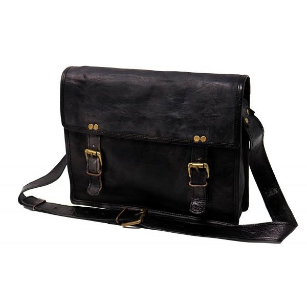 genuine Leather Messenger Briefcase shoulder
