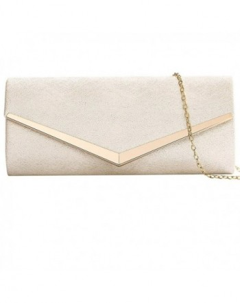 Envelope Evening Clutches Handbags Detachable