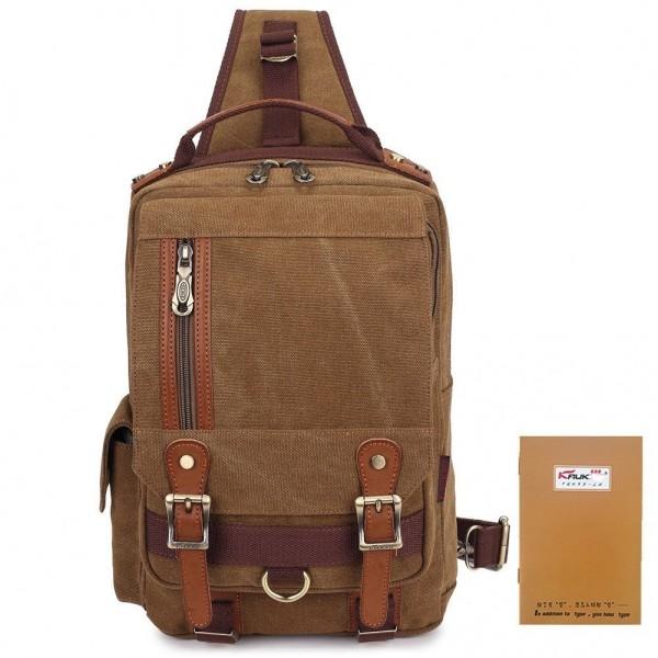 999dfb023beb KAUKKO Canvas Messenger Bag Cross Body Shoulder Sling Backpack Travel  Hiking Chest Bag - KHAKI - CU12BOKMBRV