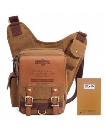 Shoulder Backpack Crossbody Messenger KAUKKO%EF%BC%88Khaki%EF%BC%89