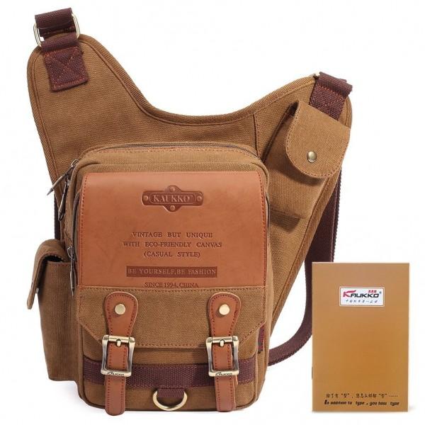 54d6310ef8 Retro Casual Shoulder Backpack Sports Canvas Handbag Crossbody ...