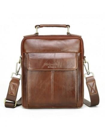 Shoulder Leather Travel Messenger Business