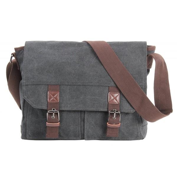6bf0a7459b Vintage Canvas Messenger Bag Laptop Shoulder Bags Classic Crossbody ...