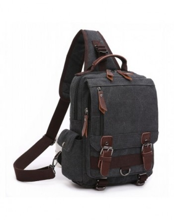 BAOSHA Canvas Backpack Messenger Shoulder