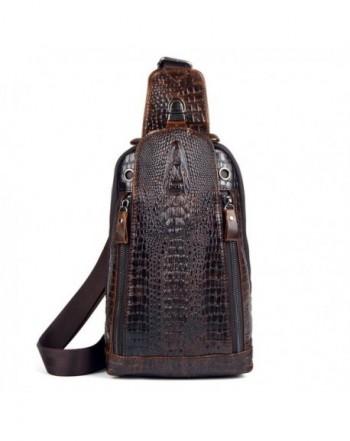 Crocodile Genuine Leather Crossbody Daypack