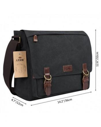 S-ZONE Vintage Canvas Messenger Bag School Shoulder Bag for 13.3-15inch Lapto...