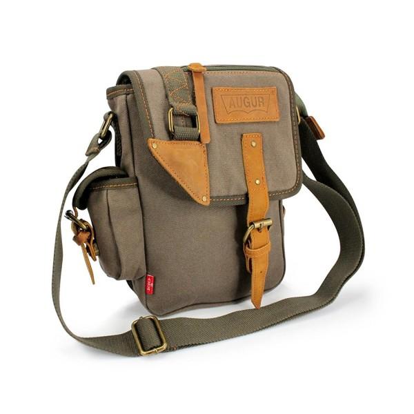 a474619e195 Men Military Canvas Messenger Shoulder Sling school Belt Crossbody Travel  Hiking Bag Satchel - Green - CT11W6KTHRB