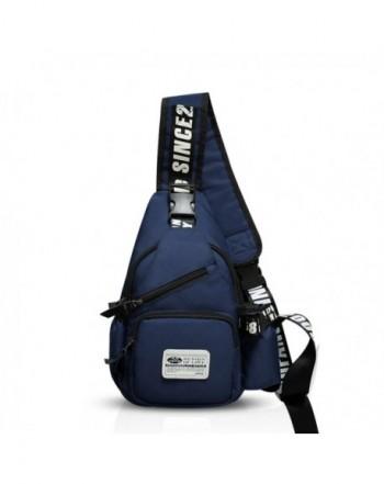 508c949fb79f Sling Bag Crossbody Bag Shoulder Bag Hiking Backpack Men Women Polyester -  Navy Blue - CU184Q9757W