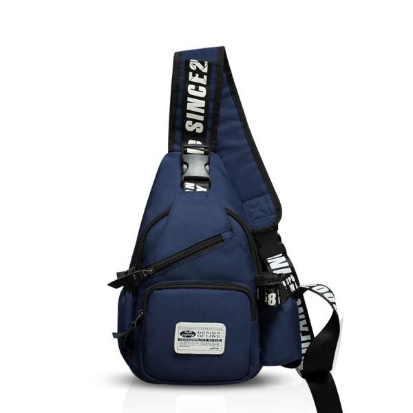 8405f9f8eec Sling Bag Crossbody Bag Shoulder Bag Hiking Backpack Men/Women Polyester -  Navy Blue - CU184Q9757W