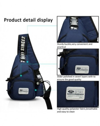 6e0763ffc4ab Sling Bag Crossbody Bag Shoulder Bag Hiking Backpack Men/Women Polyester -  Navy Blue - CU184Q9757W