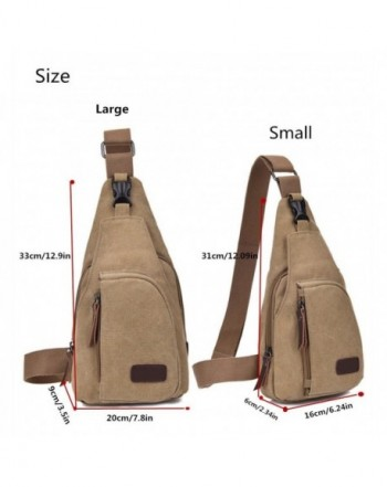 Outdoor Sports Canvas Unbalance Backpack Crossbody Shoulder Bag Chest Mens Bags