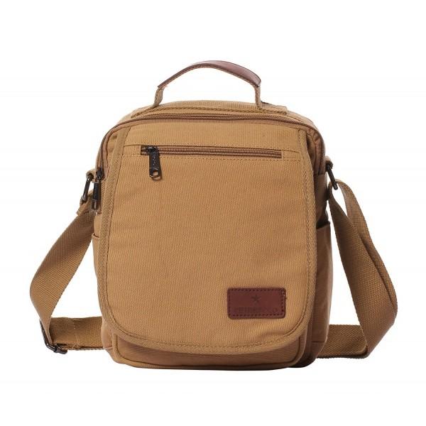 50c86a1fa ... Small Canvas Vintage Shoulder Bag Crossbody Business Messenger Bags -  Khaki - CP17Z3LTM3U. Veenajo Shoulder Multi Pockets Crossbody Messenger