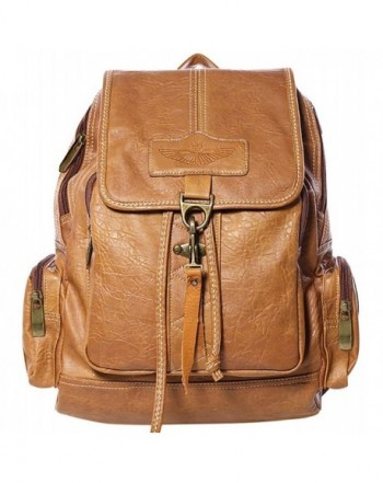 Coofit Leather Backpack Shoulders Daypack