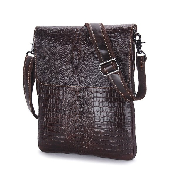 Contacts Crocodile Embossed Crossbody Shoulder