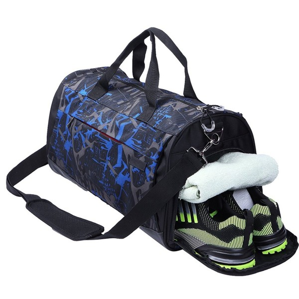 36dcc1af35fc Sports Gym Bag Waterproof with Shoes Compartment Large Capacity ...