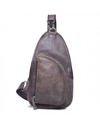 SEALINF Grain Leather Chest Backpack