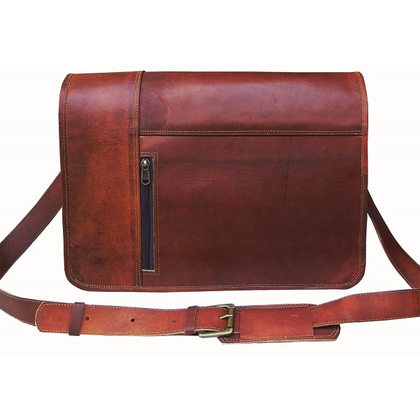 074d7f3619be6 Leather Laptop Messenger Bag Vintage briefcase Satchel for Men and Women-  16 Inch by VINTAGE COUTURE - CC183930CH8