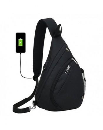 Sling Crossbody Backpack Shoulder Black