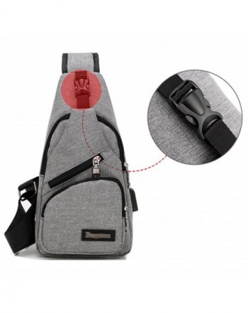 Men and Women Sling Backpack Chest Crossbody Bags Hiking Travel ... e7756ee233512