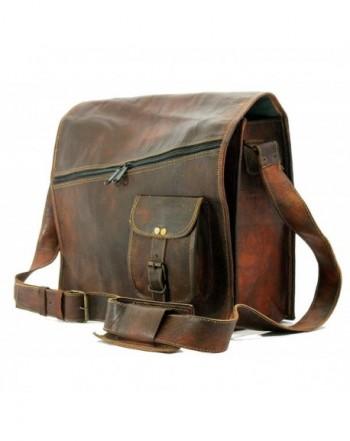 Gbag Leather Messenger Briefcase Shoulder