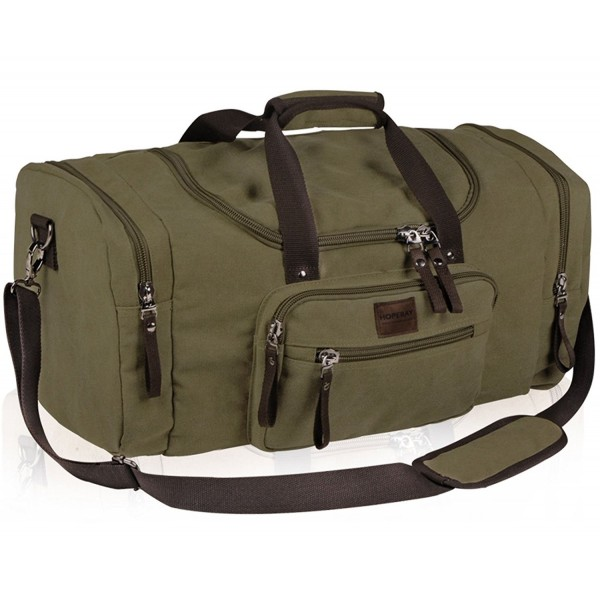 98f6751fe84a Duffle Bag Large Canvas Travel Tote Portable Luggage Bag Gym Sports ...