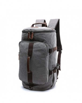6b55a0f49c Men s Canvas Backpack Travel Duffel Backpack Bag Large School Bookbag  3-In-1 - Grey - C4182ZXDZZA