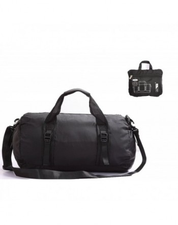 Foldable Lightweight Waterproof Gym Bag With Shoulder Strap20 Inch - Black  - C9183W87Q4O fd9f1cbd0187b