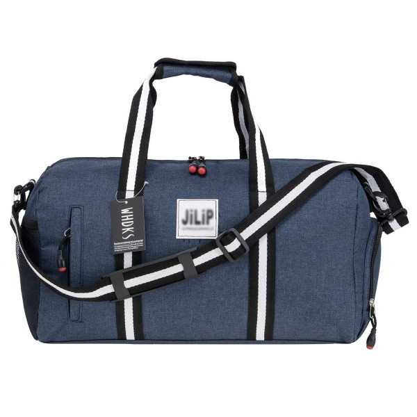 Gym Bag Sports Duffels Shoulder Travel With Strap For Women And Men Blue Cy184yi3lyh