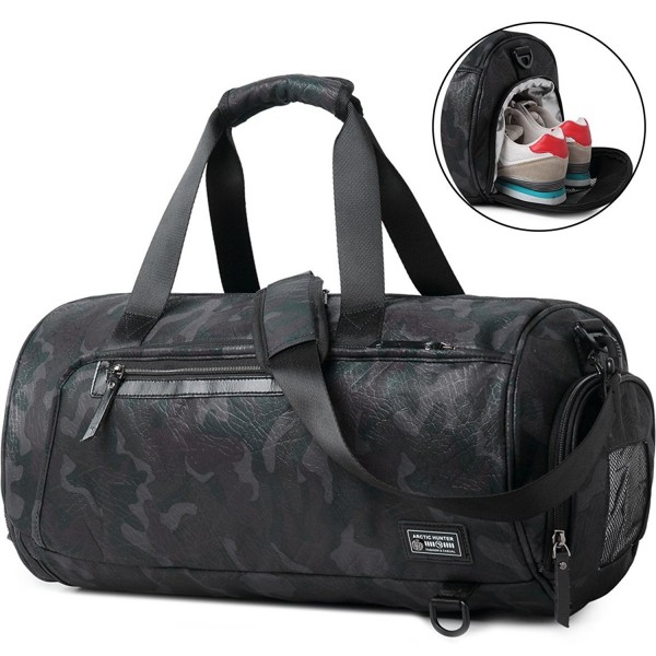5c782806efd Sports Gym Bag Travel Duffel Backpack for Women and Men Overnight Travel  Tote Bag with Shoe Compartment - Camo - C0189HIQCHD
