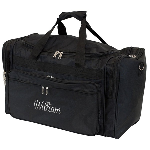 Personalized Mens Large Black Overnight Gym Duffle Bag 22 Inch Cb12n0kroa0