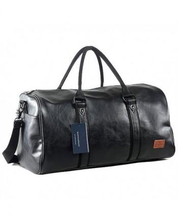 Leather Oversized Weekender Overnight Handbag