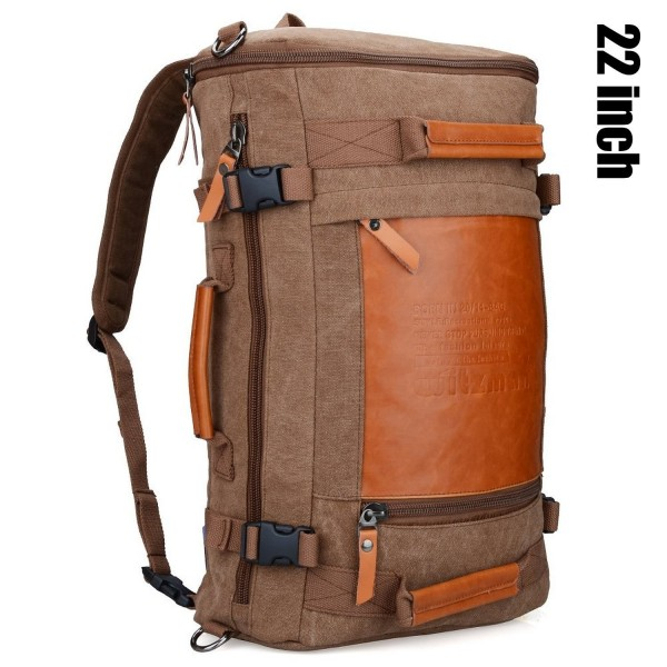 ... Duffle Bags · Men Vintage Canvas Rucksack Travel Duffel Backpack Retro  Hiking Bag - 22inch brown - C511YM9LL9B. WITZMAN Rucksack Backpack 2063  Brown f1af415d40cbc