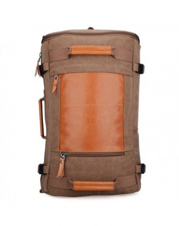 Men Vintage Canvas Rucksack Travel Duffel Backpack Retro Hiking Bag ... faef9a836a3cb
