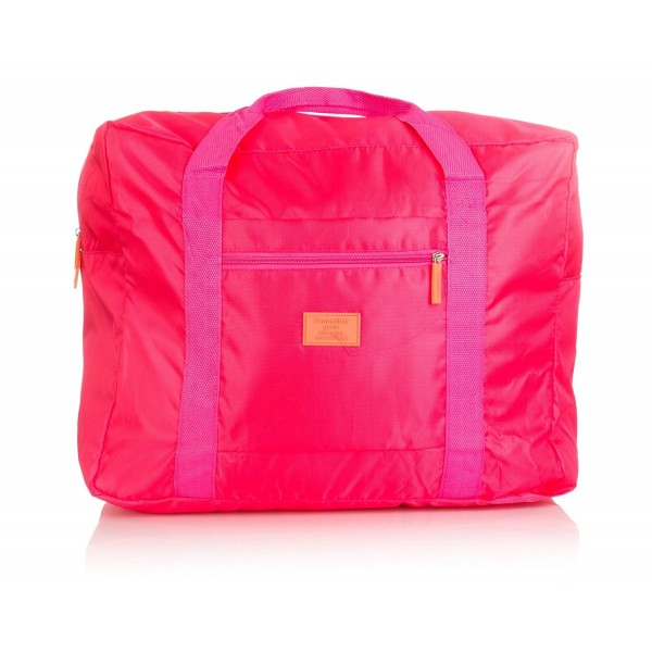 dd0f4510de8f Travel Duffel Bag for Women Men Lightweight Foldable Duffle Bags - Rose Red  - CW12IAGDPQ7