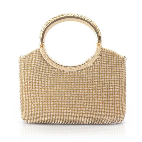ccc21bca24e3 Womens Handbag Crystal Rhinestone Evening Clutch Bags Party Wedding Clutch  Purses - Gold - CO188O9WLAL