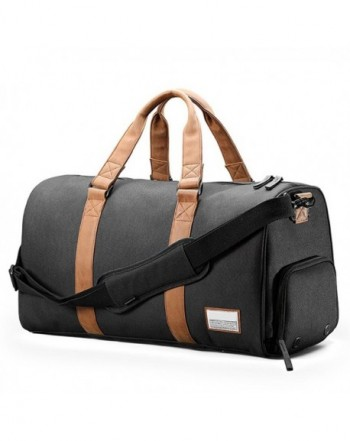 3c50acee48 Duffle Bag with Shoes Pouch Laptop Compartment - Black - CB1862C4I0R