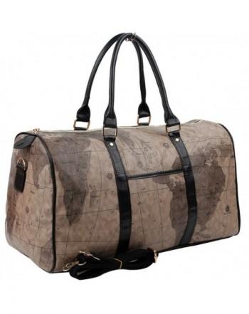 Copi Duffle Travel Luggage Chocolate Black