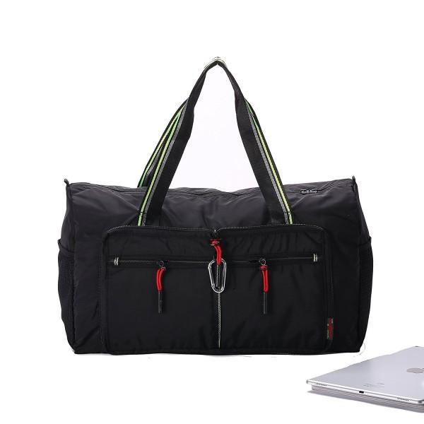 a4c827b5bcf1 Foldable Travel Duffel Bag Waterproof Large Capacity Storage Luggage Bag -  Black - CX17X6DXS9D