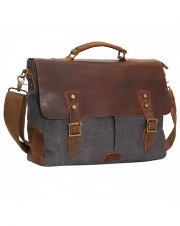 Wowbox Leather Vintage Messenger Briefcase