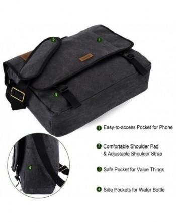 2a7846b7e2ca 17 Inch Laptop Messenger Bag Vintage Canvas Shoulder Bag For Men by VONXURY  - 17 Inches Laptop Messenger Bag - CF188LW80I6