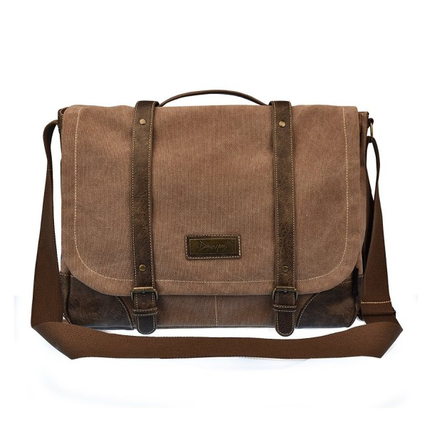 Vintage Canvas Messenger Bag For Men And Women Crossbody Computer Brown Ce12n20c2ar