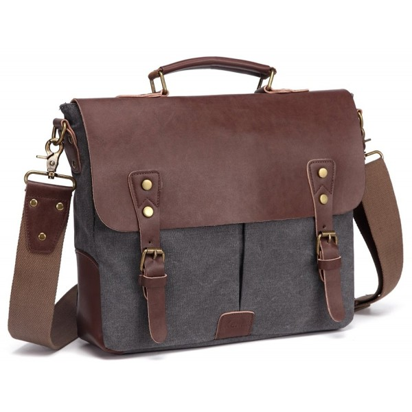 Men Canvas Messenger Satchel Bag for School Laptop Briefcase for ... fd5b65db97da5