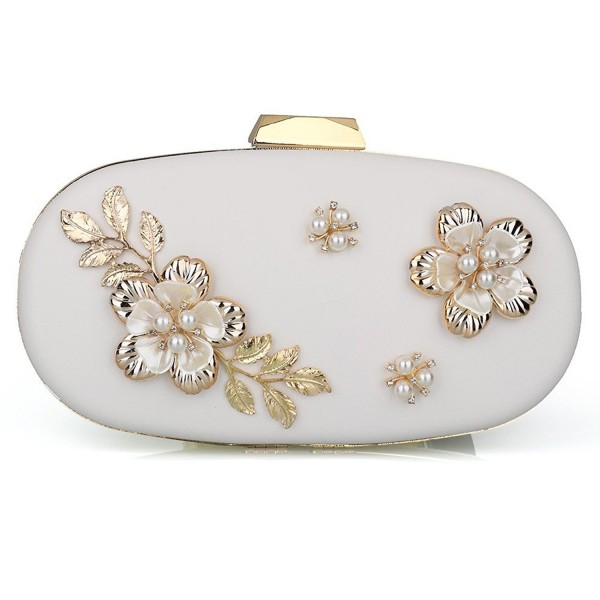 Womens Evening Clutch Flower Handbag