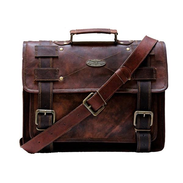 Handmade_World messenger computer distressed briefcase