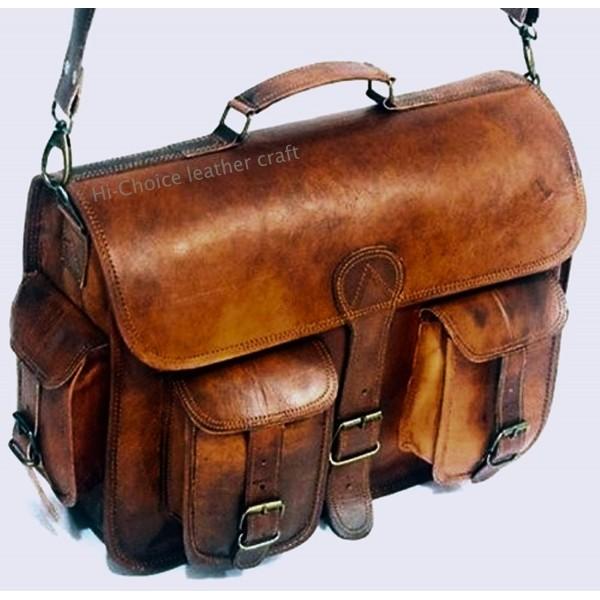 Leather Messenger Handmade Satchel 16X12X5
