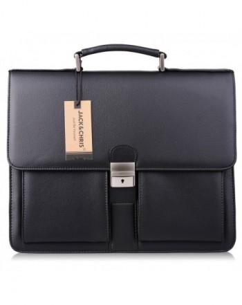 Jack Chris Leather Briefcase Messenger