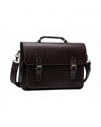 Leather Briefcase Business Laptop Messenger