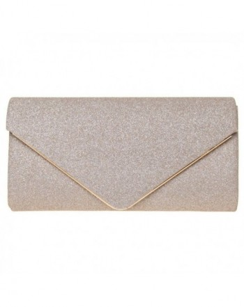 FASHIONROAD Evening Shining Envelope Handbag