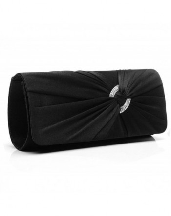 Jubileens Diamante Pleated Evening Handbag