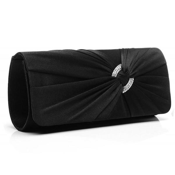Jubileens Diamante Pleated Evening Handbag